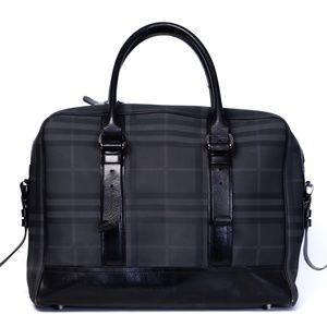 BURBERRY LARGE LONDON CHECK CANVAS AND Leather